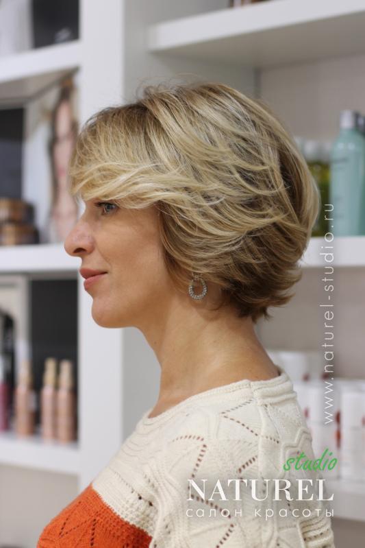 брондирование волос на короткие волосы фото